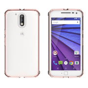 New Armor Case Hybrid TPU Frame Crystal Clear Back Cover Air Cushion Tech Phone Sleeve Shell For Motorola Moto G4 / G4 Plus G4+