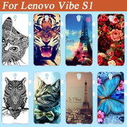 New Arrival Fashion SOFT TPU Case For Lenovo Vibe S1 Colors Pattern Cute Case Cover For Lenovo Vibe S1 Cover Free Shipping