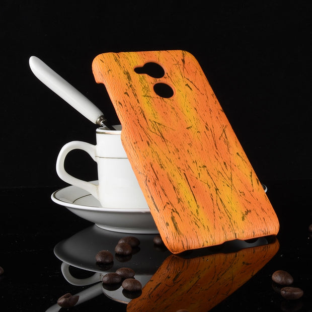 New Arrival For Huawei Nova Smart 5.0inch Case Vintage Wood PU Leather And PC Hard Cover For Huawei Nova Smart Phone Cases