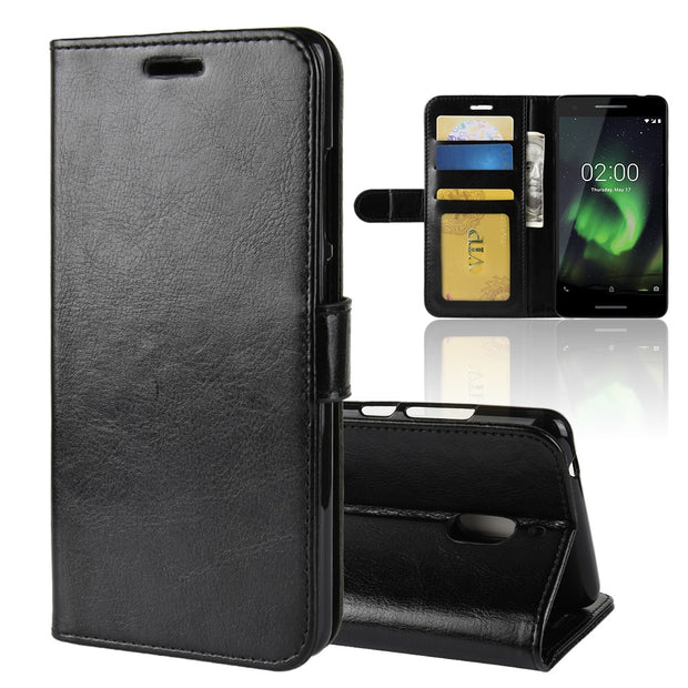Nokia 2.1 Case Nokia 2 2018 Case PU Leather Phone Case Nokia 2.1 2018 TA-1080 TA-1084 TA-1092 TA-1093 TA-1086 2 2018 Flip Cover
