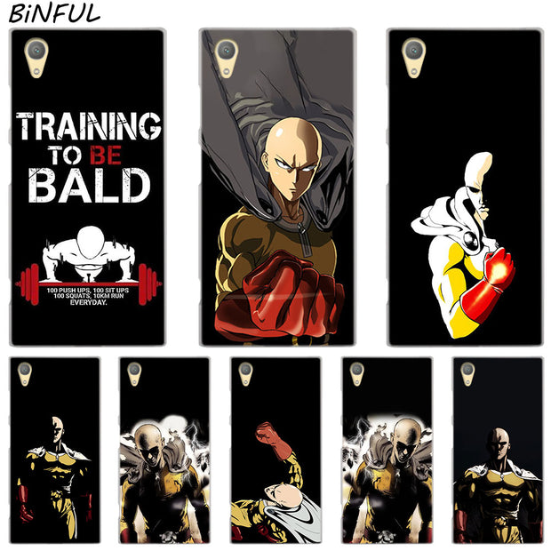 ONE PUNCH MAN Clear Cover Case For Sony Xperia Z3 Z5 Premium M4 Aqua M5 X XA XA1 C4 C5 E4 E5 XZ XZ2 Compact Plus