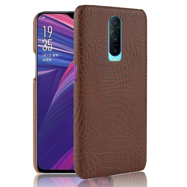 OPPO RX17 Pro Case OPPO R17 RX17Pro Luxury Crocodile Pattern PU Leather Back Cover For OPPO R17 PRO R17Pro RX17Pro Phone Cases