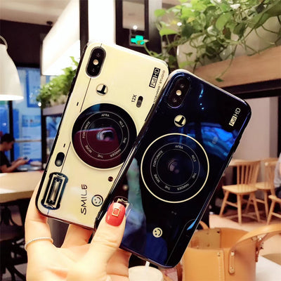 Okdeals Camera Cover For IPhone 8 Plus Stylish Glossy Couple Phone Case For Iphone 7 Case For Iphone 6 Plus Cover For Iphone X 6