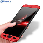 Ollivan 360 Degree Full Protective Phone Cases For Xiaomi Mi Note 3 Case 3 In 1 Hard PC Back Cover For Xiaomi Note3 Case Luxury