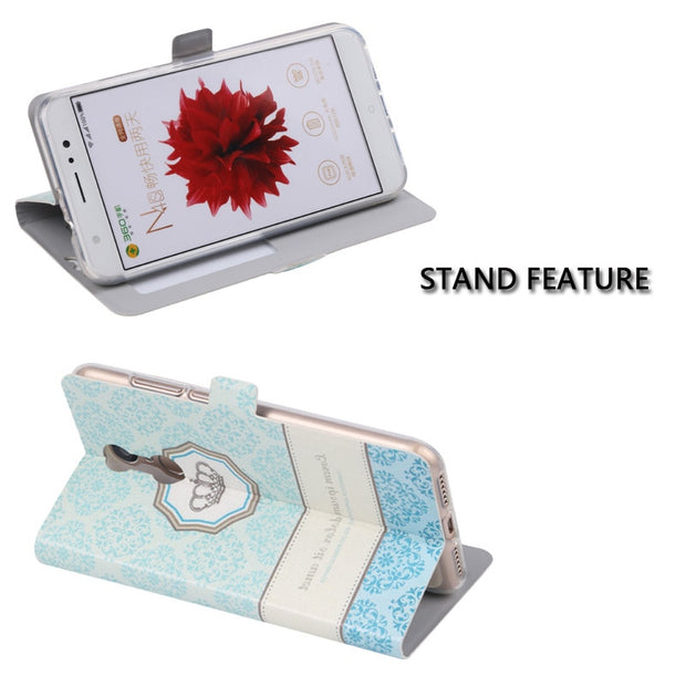 Open View Window Flip Stand Phone Cover Case For Motorola Moto C X Plus X4 M Z Z2 Z3 Play Z Force Colorful Painting Funda Coque