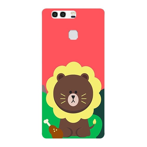Original Cover For Huawei Honor 8 Fashion Print Lovely Leaves Bear Soft TPU Silicone Phone Cover Coque Smartphone