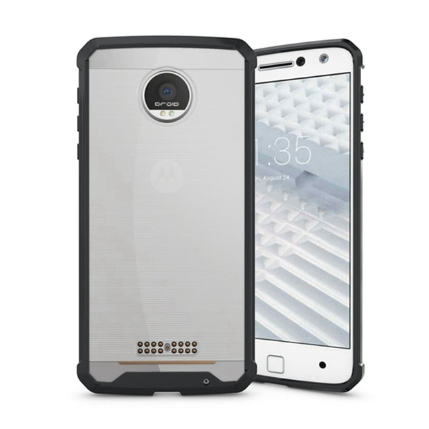 Original Hybrid Crystal Clear Back Cover Shockproof Shell Air Cushion Case Protection Fundas Coque For Motorola Moto Z / Z Droid