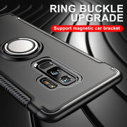 PC+Silicone Case For Samsung Galaxy S8 S9 Plus Luxury Case For Samsung Note8 Full Cover For Samsung S7 Edge Metal Ring Bracket
