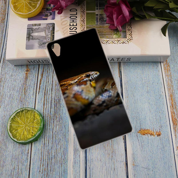 Pantherophis Guttatus Clear Cover Case For Sony Xperia Z3 Z5 Premium M4 Aqua M5 X XA XA1 C4 C5 E4 E5 XZ XZ2 Compact Plus