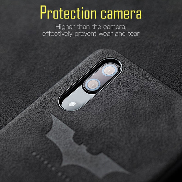 Phone Case For Honor 10 9 Soft Luxury Alcantara Leather Anti-Fall Cover For Huawei Mate20 Pro Mate10 P20 Lite P9 Nova Case Coque