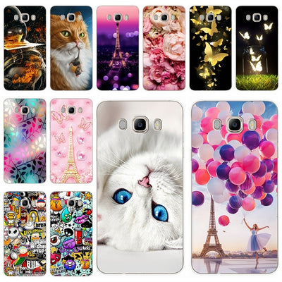 Phone Case For Samsung Galaxy J7 2016 J710 F Cover 5.5' Printing Cool Animals Phone Case For Samsung J 7 2016 710 F Fundas Coque
