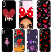 Phone Case For IPhone 6 6s 7 8 Plus X 5 5s SE Phone Case Fashion Cute Cartoon Love Heart Soft Silicone For IPhone XS MAX XR XS