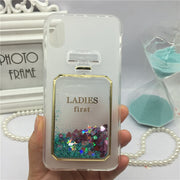 Phone Case For Motorola Moto C XT1750 XT1754 XT1755 Original Red Wine Cover Perfume Glass Cases Bling Lady Soft Silicon Para
