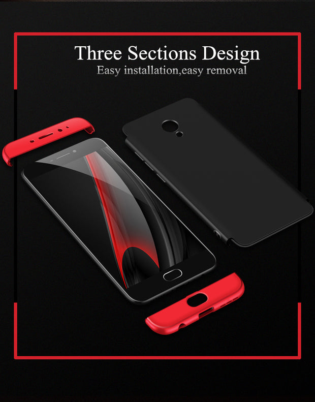 Phone Cases For Meizu M3 Note Case 360 Full Protective Case Armor Back Cover For Meizu M3 Note Case Hard PC Coque Fundas