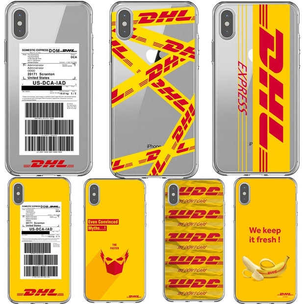 Phone Cases Soft Silicone Transparent Yellow Design Luxury Logo DHL Cover Case For IPhone 7 8Plus XS MAX 6 6SPlus 5s 7 8 SE X XR