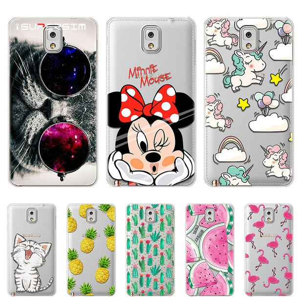 separation shoes d8107 892b5 Phone Cute Case For Samsung Galaxy Note 3 Case Silicon Cover For Samsung  Galaxy Note 3 Cover Cases For Samsung Galaxy Note3 Bags