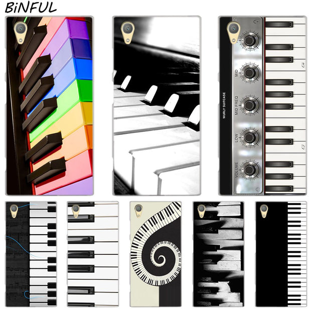 Piano Keys Design Clear Cover Case For Sony Xperia Z3 Z5 Premium M4 Aqua M5 X XA XA1 C4 C5 E4 E5 XZ XZ2 Compact Plus