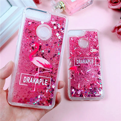 Pink Glitter Case On For Huawei Honor 9 Lite Coque For Honor9 Huawei Honor 10 8 Lite Cover Liquid Quicksand Soft TPU Phone Cases