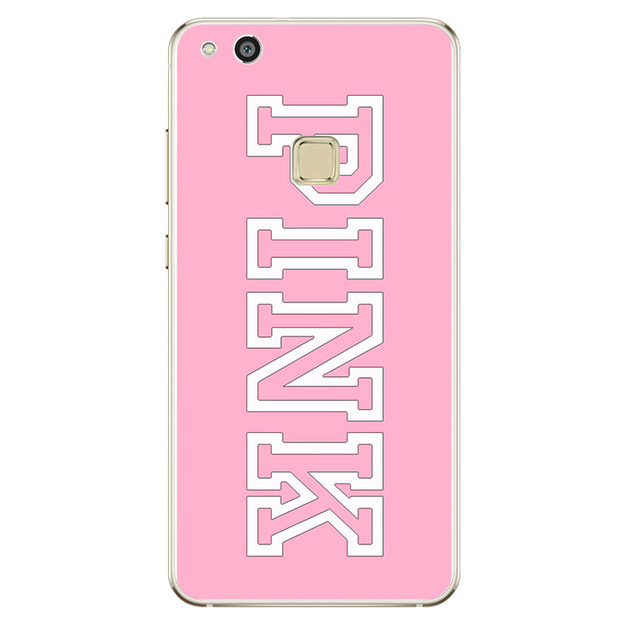 Pink Black Letters Cover Case For Huawei P8 P9 P10 Lite 2017 For IPhone 4 4S 5 5S SE 5C 6 6S 7 Plus X 8