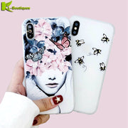 Pouzdro On For IPhone 6s Case For IPhone 6 6s 7 8 X 10 Plus Cover Cute Butterfly Cartoon Bee Soft Silicone Phone Cases Coque