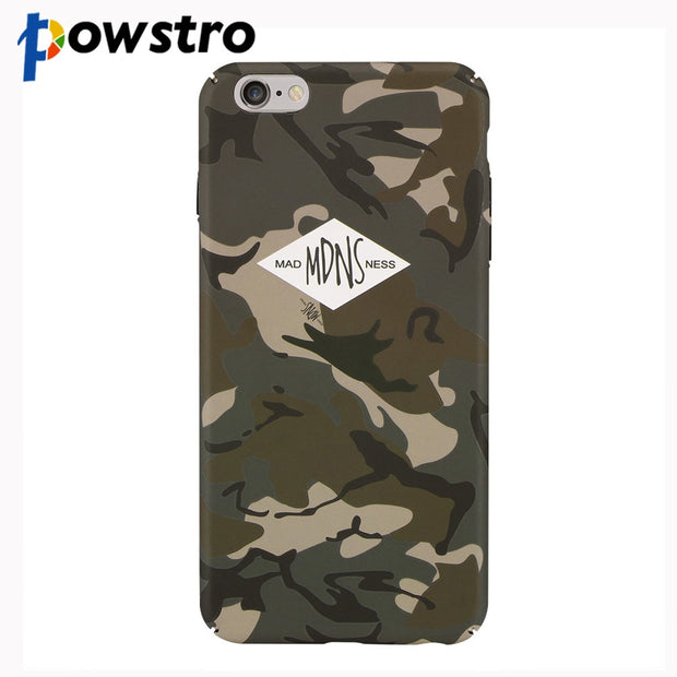 Powstro Luminous Cellphone Case Shell Camouflage Pattern Matte Fashion Plastic PC Protective Case For IPhone 6S Plus 7 8 Plus X