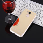 RUANZHAO Luxury Phone Case For Huawei Mate 10 Pro P10 Lite Soft TPU Gold Mirror Back Cover For Honor 8 Lite 9 6A 7X 6X 5X Case