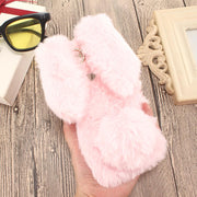Rabbit Fur Cases For Huawei Honor 8X Max 8C 7A Pro 7C 7X 7S Honor 9 Lite Play 6 7 V10 View 10 6A 6X 5S 5C 4C Pro Note 10 Covers