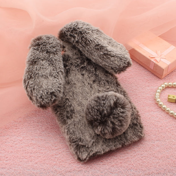 Rabbit Fur Cases For Meizu 16 Plus 16X V8 Standard X8 V8 PRO NOTE 8 Cover Warm Fur Luxury Housings