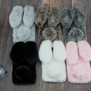 Rabbit Fur Cases For Samsung Galaxy J2 Pro J4 Prime J6 Plus J8 2018 J3 J7 2017 J5 2016 Cover J415F J610F On 6 Nxt J1 Ace Mini