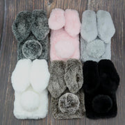 Rabbit Fur Cases For Xiaomi Pocophone F1 Mi 6X Mi A2 Lite 5X 5S 5 5C A1 8 Youth Mi MAX 3 2 Mix Note 3 Mi 6 Plush Silicone Covers