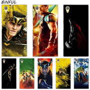 Ragnarok Tom Hiddleston Clear Cover Case For Sony Xperia Z3 Z5 Premium M4 Aqua M5 X XA XA1 C4 C5 E4 E5 XZ XZ2 Compact Plus