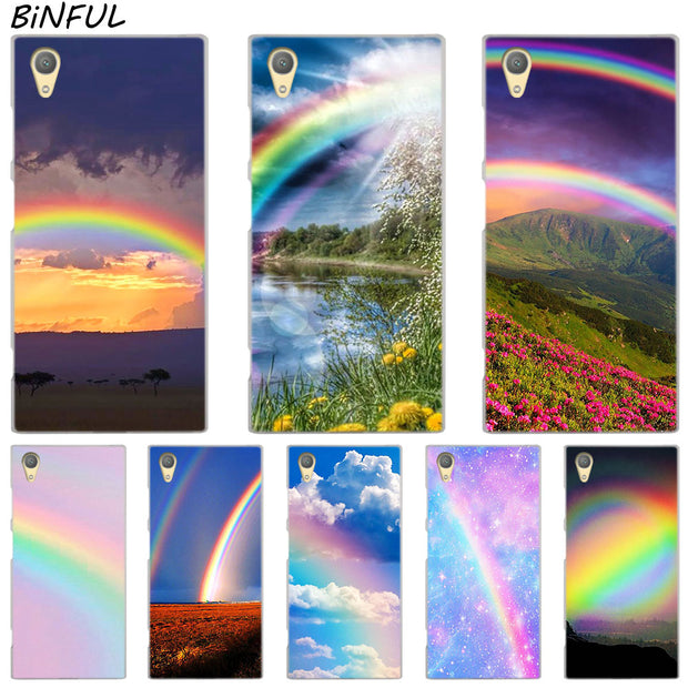 Rainbow In The Sky Clear Cover Case For Sony Xperia Z3 Z5 Premium M4 Aqua M5 X XA XA1 C4 C5 E4 E5 XZ XZ2 Compact Plus