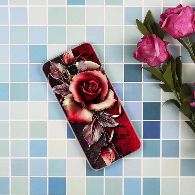 Red Rose Flowers Hd Wallpaper Fashion Transparent Case For Samsung Gal Ferrum Cases
