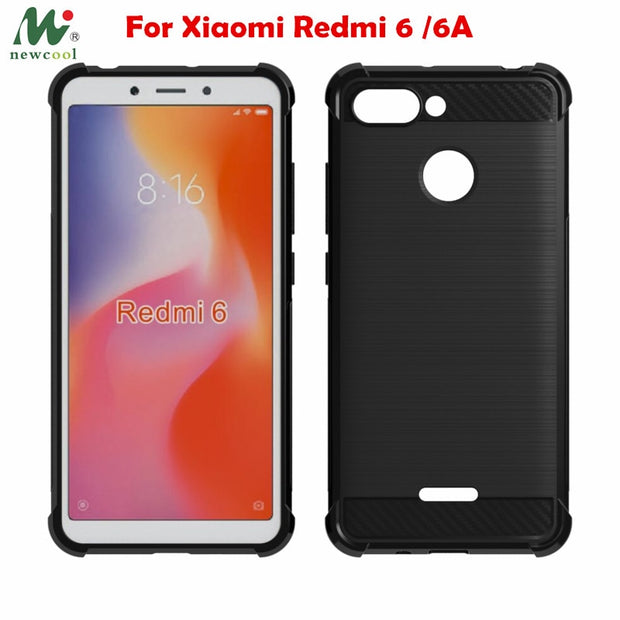 Redmi 6A Case Redmi 6 Soft Tpu Clear Carbon Fiber Case For Xiaomi Redmi 6A Global Version Redmi6A 6 A Redmi6 Shockproof Case
