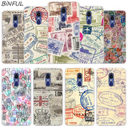 Retro Post Card Passport Stamps Cover Case For Xiaomi Redmi 3 3S 6 Pro S2 4A 4X 5A 6A 5 Plus Note 5A Note 2 3 4 4X 5 6 Pro Mi 5X