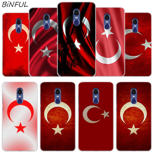 Retro Turkey National Flag Cover Case For Xiaomi Redmi 3 3S 6 Pro S2 4A 4X 5A 6A 5 Plus Note 5A Note 2 3 4 4X 5 6 Pro Mi 5X