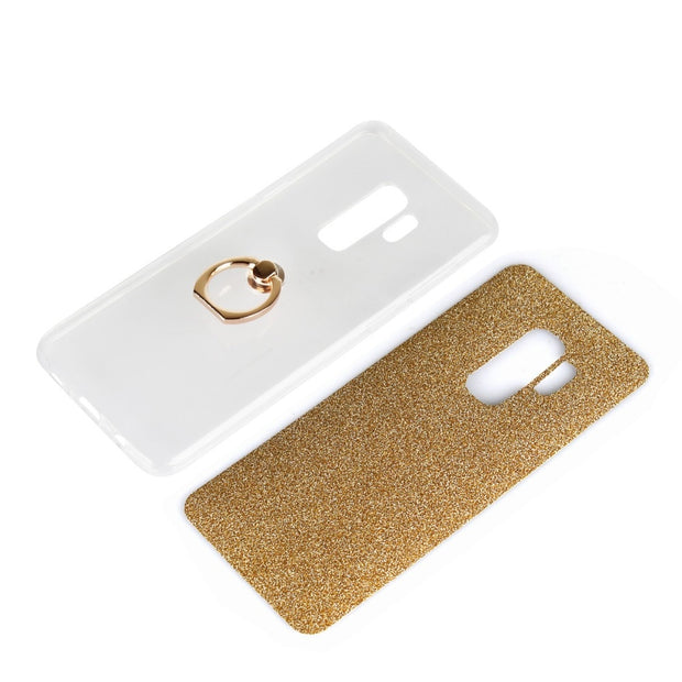 S8 S9 DIY Bracket Phone Case Bling Glitter Soft TPU Shell For Samsung S5 S6 S7 Edge S8 S9 Plus C5 C7 C8 C9 G530 G360 E5 E7 Capa