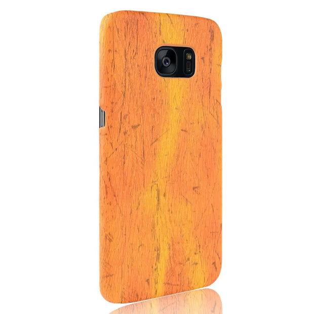 SUBIN Phone Case For Samsung GALAXY S7 SM-G9300 Lucky Jungfrau Retro Wood Grain Mobile Phone Back Cover Phone Protective Case