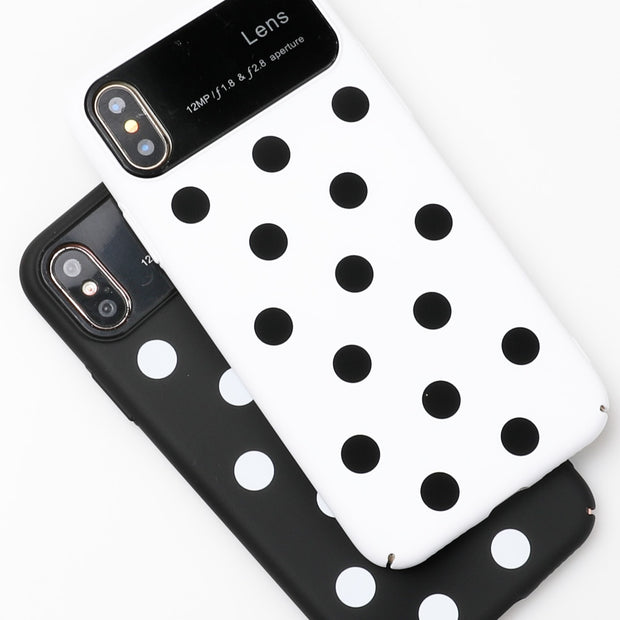 SUYACS Wave Point Dot Speckle English Words Phone Case For IPhone 6 6S 7 8 Plus X All-inclusive Hard PC Shell Back Cover Bags
