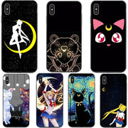 Sailor Moon Luna And Artemis Soft Case For IPhone X XS XS Max XR In The Name Of The Moon For IPhone 5 5S SE 6 6S Plus 7 8 Plus