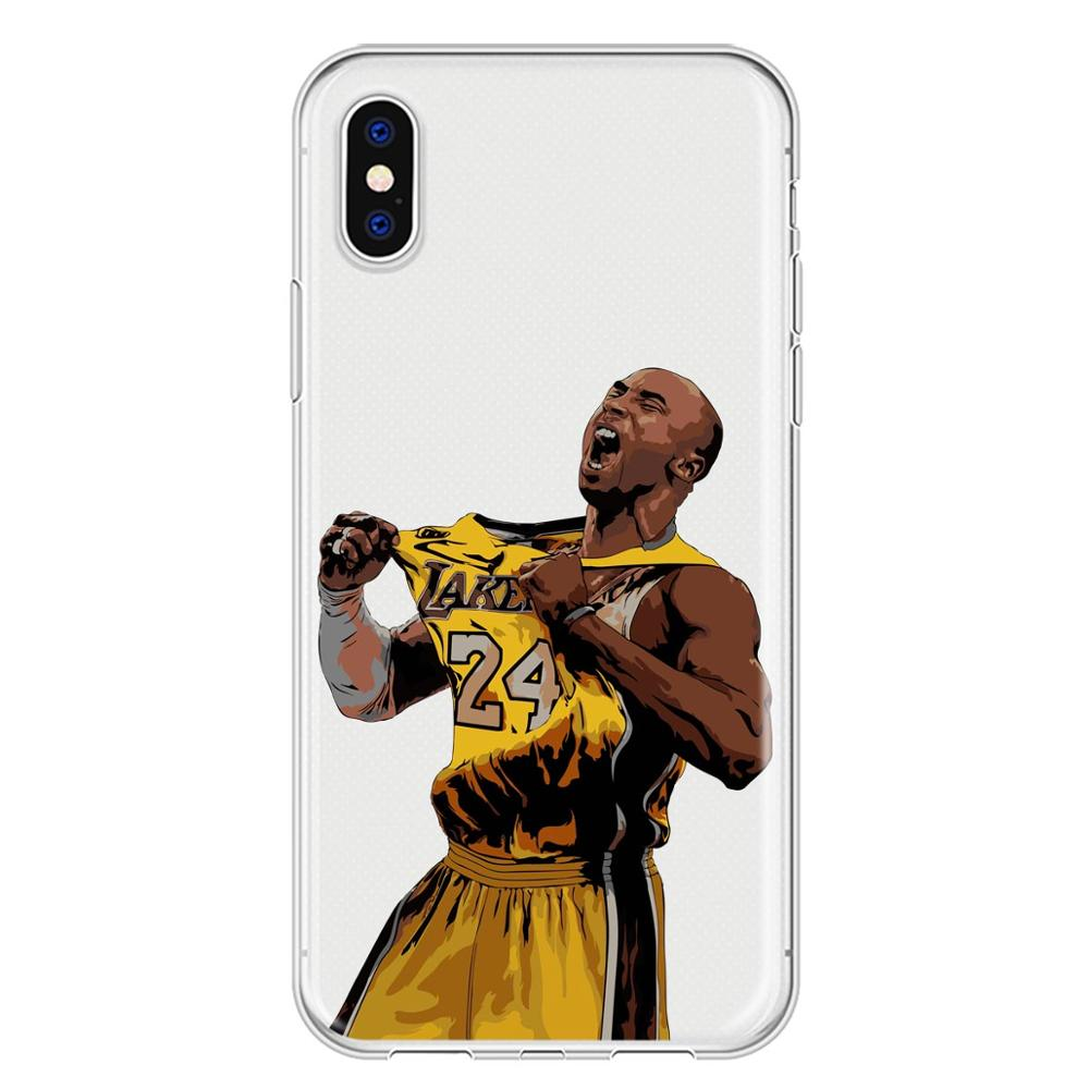 ff2c95c7c0722 Salute To Our Memory NBA Basketball Player Kobe Bryant DIFFRBEAUTY Soft TPU  Shell Phone Cases For IPhone X 5s Se 6s 7 8 Plus