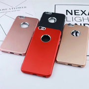 Shockproof Luxury Ultra Thin Soft Tpu Back Case Cover With Metal Button For Iphone 5 6 7 8 Plus Anti -Dust Protective GHMY