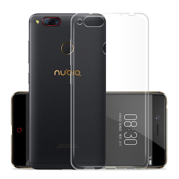 Silicon Case For Zte Nubia Z11 MiniS Z17 Miini Soft Crystal Silicon Back Cover On Z 11 Max Z 17 Transparent Tpu
