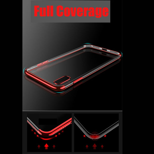 Silicone Case For Oneplus 6 6T 5T 5 Plating Soft Oppo R17 Pro F9 F5 A83 A5 A3 Case Covers
