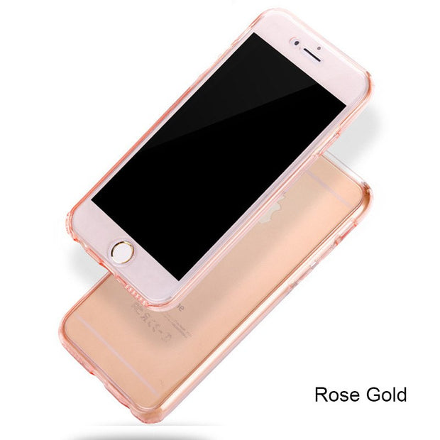 Silicone Clear Cover For IPhone 6 6s Case Luxury 360 Degree Soft TPU Case For IPhone 7 For IPhone 8 Plus X 6 6s 7 5 5S Cases