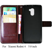 Silicone Wallet Case For Xiaomi Redmi 4 Pro Redmi 4 Book Flip Cover PU Leather Stand Phone Bags Cases For Xiaomi Redmi 4 Pro