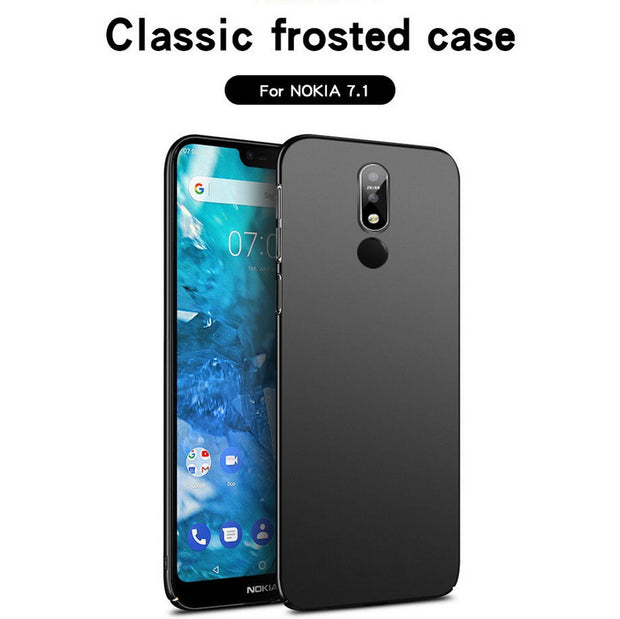 Slim Frosted Scrub Phone Case For Nokia 5.1 6.1 7.1 Plus X5 X6 X7 Hard Plastic Back Cover For Nokia 7 Plus 8 2017 6 2018 Fundas