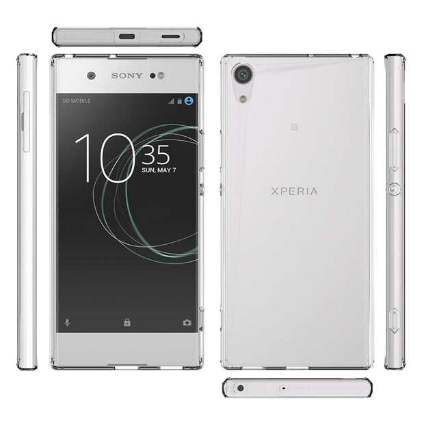Slim Hybrid Shockproof Case Crystal Clear Back Cover With Air Cushion Tech Shell Mask For Sony Xperia XA1 Ultra Fundas Coque