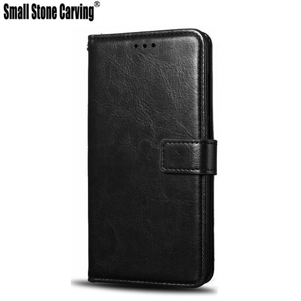 Small Stone Carving For Cubot H2 Case Wallet Style PU Leather Mobile Protective Back Cover For Phone Bag Cases