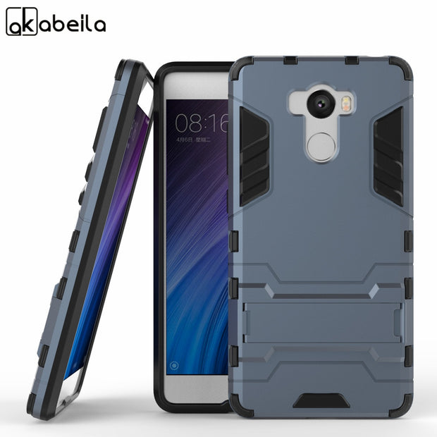 the best attitude 6070c 57245 Soaptree Case For Xiaomi Redmi 4 Pro 32GB Case For Xiaomi Redmi 4 16GB  Cover Phone Cases Hard PC TPU Hybrid Kickstand Back Cover